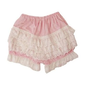 Glamoural Adorable Pink Cotton Lace Lolita Bloomers Lolita Clothing