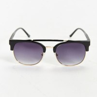 Half-Frame Brow Bar Sunglasses