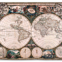 Old World Map Wall Tapestry at AllPosters.com