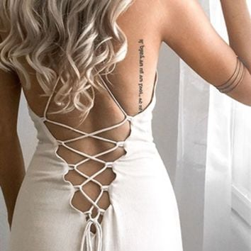Tiana Tie Up Maxi - SABO SKIRT