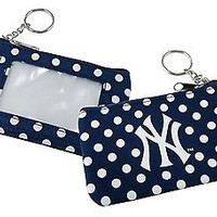 New York Yankees Coin Change Purse With Key Ring