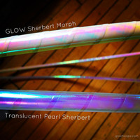 Translucent Sherbert Color Changing Tape ~ Custom Polypro, HDPE & Beginner Hoops ~ Color-Change Morph Shifting Tapes