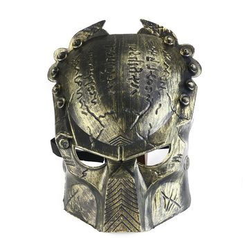Cool Lifelike Alien Soldier Shaped Cosplay Mask Face Mask with Elastic Band for Halloween /Parties