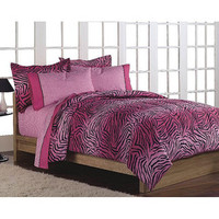 Pink 'Wild One' Twin-size 5-piece Bed in a Bag