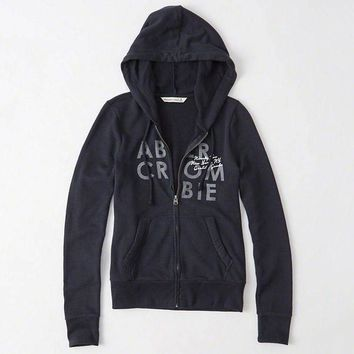 Abercrombie & Fitch Women Fashion Casual Cardigan Jacket Coat Hoodie