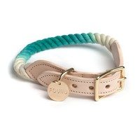 Found My Animal Nautical Rope Dog Collar Teal Ombre | Petswag