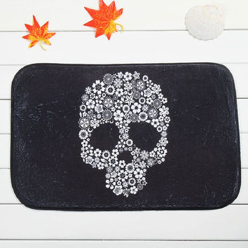 Skull Mat Rectangle 40x60cm area Rug Entrance Doormat Carpet 1PCS/LOT Printed mat Decorative Living Room,Kitchen,Floor Mats rugs