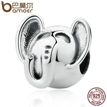 925 Sterling Silver Elephant Long Trunk Charm