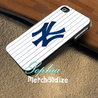 Yankees New York Baseball - iPhone 4/4s/5 Case - Samsung Galaxy S3/S4 Case - Blackberry Z10 Case - Black or White