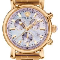 Women's Versace 'Day Glam' Chronograph Bracelet Watch, 38mm