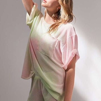 BDG Boardwalk Terry Off-The-Shoulder Tee | Urban Outfitters