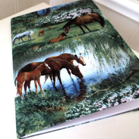 Wild Horse notebook journal by PeacefullyPerfect on Etsy
