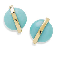 Ippolita 18K Senso™ Wrapped Stud Earrings in Turquoise