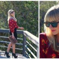 Karen Walker Sunglasses, Tucker For Target  Dress Worn As Top //    Tucked in Tucker  by Taylor Sterling // LOOKBOOK.nu