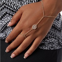 Rose Medallion Hand Chain