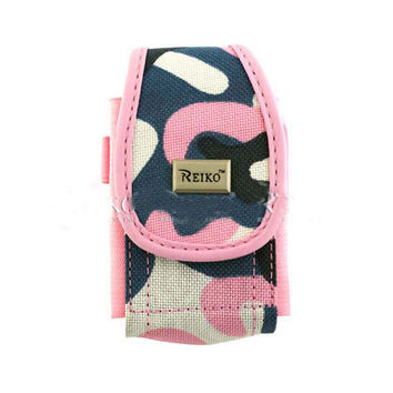 Vertical Rugged Pouch PH01 M Pink Army Camouflage Pattern