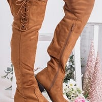 Better Than Yours Knee High Boots (Tan)