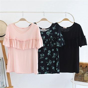 3 colors cotton Moms pregnancy Maternity Clothes Maternity Tops/T-shirt Breastfeeding shirt Nursing Tops for pregnant women