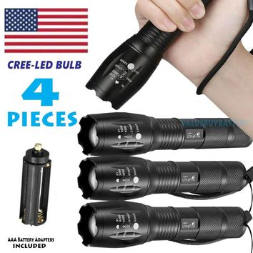 LOT4 10000LM 5Mode LED 18650 Flashlight Torch Zoom Lamp Lanterns Light