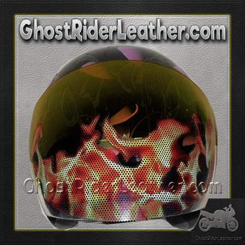 Fire Flames Motorcycle Helmet Visor Sticker / SKU GRL-FIRESTICKER-HI