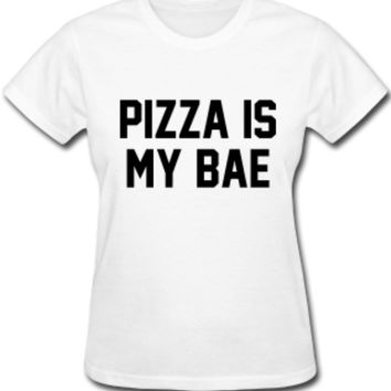Polly - Pizza Is My Bae Slogan Top (Also in Black)