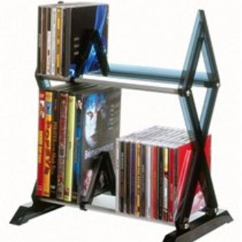 College Dorm Sized Accessory Mitsu 2- Tier Media Rack Entertainment Organizers