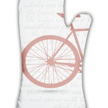 Oven Mitt, Vintage Retro Bicycle