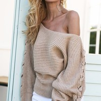 Mazie One Shoulder Sweater