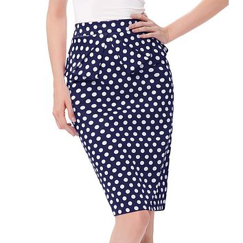 Sexy Summer Skirt 2017 Fashion jupe High Waist Polka Dots Woman Pleated Plus Size Vintage Bodycon Short Pencil Skirts Womens