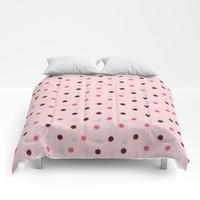 Pink dot design Comforters by Knm Designs