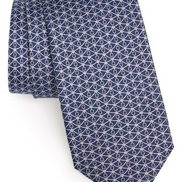 Men's Salvatore Ferragamo Equestrian Print Silk Tie, Size Regular