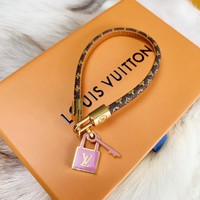 Louis Vuitton Lv Accessories Pink Lock Bracelet - Best Online Sale