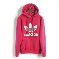 "Fashion ""Adidas"" Print Hooded Pullover Tops Sweater Sweatshirts Roses"