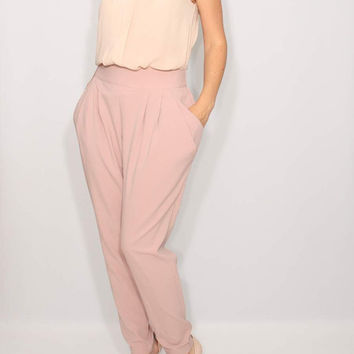 Lavender Harem Pants Light purple trousers Double Draped Pockets