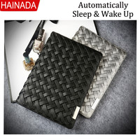 Luxury Retro Knit Design Flip Cover Case For Apple iPad Air For iPad Mini 4 Smart Cover Wake Up / Sleep Stand Case