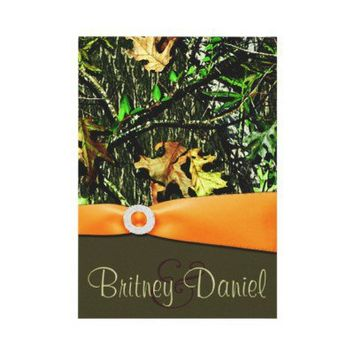 Hunting Camo Wedding Invitations from Zazzle.com