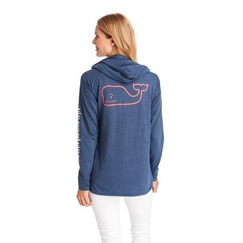 Long Sleeve Edgartown Vintage Whale Hoodie by Vineyard Vines
