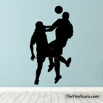 Soccer Wall Decal - Man Futbol Player Sticker #00030