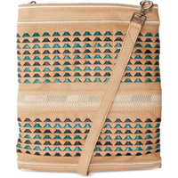TOMS Buff Woven Leather Postscript Crossbody