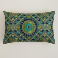Aqua Mosaic Lumbar Pillow
