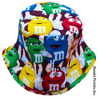 M&Ms Candy Bucket Hat | Multicolored Unisex Hat by Hamlet Pericles