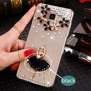 Luxury Crystal Case for Samsung Galaxy A-Series, C-Series, J-Series Smartphones