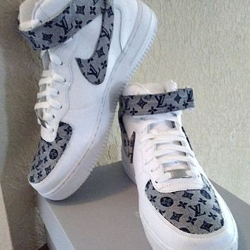 Designer Inspired Nike LVs Air Force 1 Mid