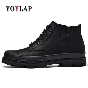 Brand 2018 New Vintage Leisure Doc Dr Martins Shoes Men genuine leather ankle Boots British Style High Top Dr. Martens Boots