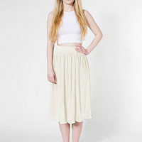American Apparel - Mid-Length Accordion-Pleat Skirt