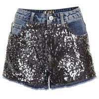 MOTO Sequin Denim Boy Shorts - New In This Week - New In - Topshop USA
