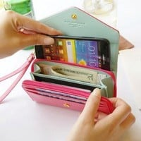 Cool Mobile phone bag purse change purse Wallet With Card Pocket