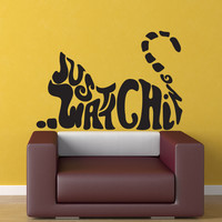 Vinyl Wall Decal Sticker Just Watching Cat #OS_DC591