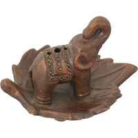 Ceramic Incense Burner - Elephant Terra Cotta