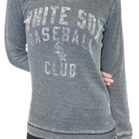 Chicago White Sox Womens Burnout Thermal Top | SportyThreads.com